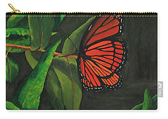 Viceroy Butterfly Oil Painting Carry-all Pouch