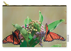 Carry-all Pouch featuring the photograph Monarch Gathering by Kerri Farley