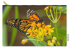 Carry-all Pouch featuring the photograph Monarch by Jane Luxton