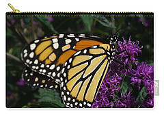 Carry-all Pouch featuring the photograph Monarch by Lingfai Leung