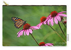 Monarch On Garden Coneflowers Carry-all Pouch