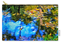 Carry-all Pouch featuring the photograph Monet's Garden by Ira Shander