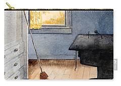 Carry-all Pouch featuring the painting Monhegan Kitchen by Roger Rockefeller