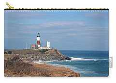 Carry-all Pouch featuring the photograph Montauk Lighthouse/camp Hero by Karen Silvestri