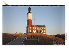 Carry-all Pouch featuring the photograph Montauk Lighthouse Entrance by John Telfer