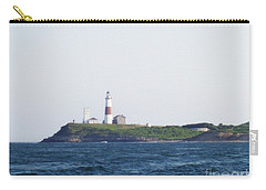 Montauk Lighthouse From The Atlantic Ocean Carry-all Pouch by John Telfer