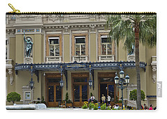Carry-all Pouch featuring the photograph Monte Carlo Casino by Allen Sheffield
