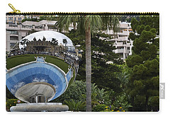 Carry-all Pouch featuring the photograph Monte Carlo Casino In Reflection by Allen Sheffield