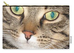Carry-all Pouch featuring the photograph Monty The Cat by Jolanta Anna Karolska
