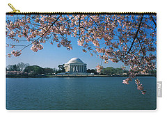 Monument At The Waterfront, Jefferson Carry-all Pouch by Panoramic Images
