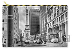 Carry-all Pouch featuring the photograph Monument Circle by Howard Salmon