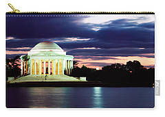 Monument Lit Up At Dusk, Jefferson Carry-all Pouch by Panoramic Images