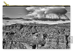 Carry-all Pouch featuring the photograph Monument Valley 5 Bw by Ron White