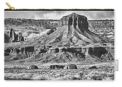 Carry-all Pouch featuring the photograph Monument Valley 7 Bw by Ron White