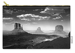 Monument Valley In Black And White Carry-all Pouch