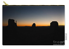 Monument Valley Sunrise Carry-all Pouch by Jeff Kolker