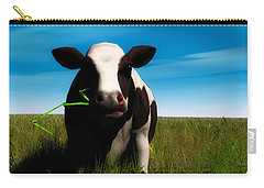 Carry-all Pouch featuring the digital art Moo... by Tim Fillingim