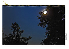 Carry-all Pouch featuring the photograph Moon And Pegasus by Greg Reed