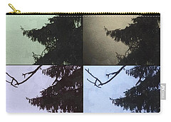 Carry-all Pouch featuring the photograph Moon And Tree by Photographic Arts And Design Studio