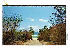 Carry-all Pouch featuring the photograph Moon Bay Walk by Amar Sheow