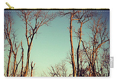 Carry-all Pouch featuring the photograph Moon Between The Trees by Kerri Farley