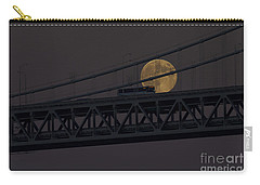 Carry-all Pouch featuring the photograph Moon Bridge Bus by Kate Brown