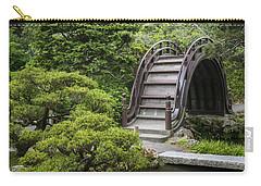 Moon Bridge - Japanese Tea Garden Carry-all Pouch by Adam Romanowicz