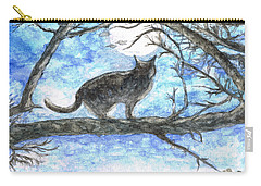 Moon Cat Carry-all Pouch by Teresa White