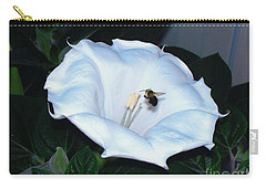 Carry-all Pouch featuring the photograph Moon Flower by Thomas Woolworth