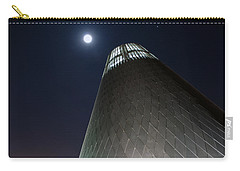 Carry-all Pouch featuring the photograph Moon Gazing From Museum by Tikvah's Hope