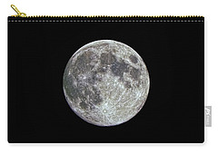 Carry-all Pouch featuring the photograph Moon Hdr by Greg Reed