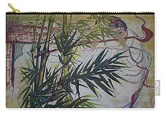 Moon Lovers With Flute  Carry-all Pouch by Avonelle Kelsey