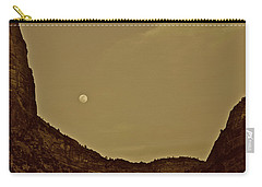 Moon Over Crag Utah Carry-all Pouch
