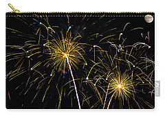 Moon Over Golden Starburst- July Fourth - Fireworks Carry-all Pouch