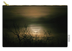 Moon Over Prince George Carry-all Pouch by Karen Harrison