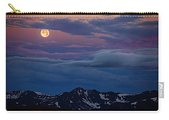Moon Over Rockies Carry-all Pouch