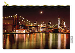 Moon Over The Brooklyn Bridge Carry-all Pouch
