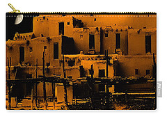 Moon Rise At The Pueblo Carry-all Pouch