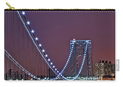 Moon Rise Over The George Washington Bridge Carry-all Pouch