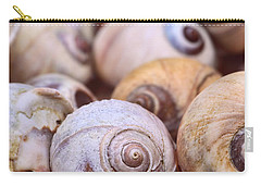 Carry-all Pouch featuring the photograph Moon Snail Shells by Peggy Collins
