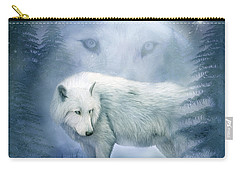 Moon Spirit 2 - White Wolf - Blue Carry-all Pouch