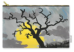 Moon Tree Carry-all Pouch by Marisela Mungia
