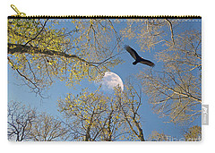 Carry-all Pouch featuring the photograph Moon Trees by Savannah Gibbs