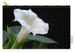 Moonflower - Rain Drops Carry-all Pouch by Nikolyn McDonald
