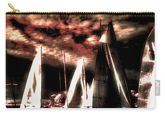 Carry-all Pouch featuring the tapestry - textile Moonlight Cruise by Robert McCubbin