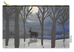 Moonlight On Snow Carry-all Pouch