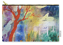 Carry-all Pouch featuring the painting Moonlight Serenade by Robin Maria Pedrero