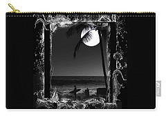 Carry-all Pouch featuring the photograph Moonlight Surf by Athala Carole Bruckner