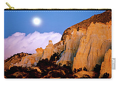 Moonrise Over The Kaiparowits Plateau Utah Carry-all Pouch by Ed  Riche
