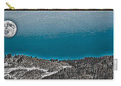 Carry-all Pouch featuring the photograph Moonrise Over The Mountain by Don Schwartz